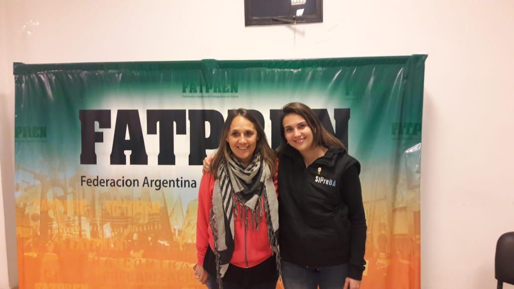 Maria Ana Mandakovic y Carla Gaudensi, Secretaria de Organización y Secretaria General de la FATPREN